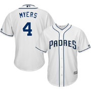 Majestic Men's Replica San Diego Padres Wil Myers #4 Cool Base Home White Jersey