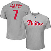 Majestic Men's Philadelphia Phillies Maikel Franco #7 Grey T-Shirt