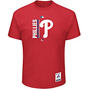 Majestic Men's Philadelphia Phillies Authentic Collection Red T-Shirt