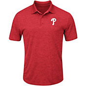 Majestic Men's Philadelphia Phillies Cool Base Red Polo