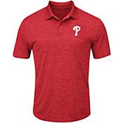 Majestic Men's Philadelphia Phillies Cool Base Red Polo