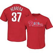 Majestic Men's Philadelphia Phillies Odubel Herrera #37 Red T-Shirt