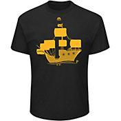 Majestic Men's Pittsburgh Pirates Black Pirate Ship T-Shirt