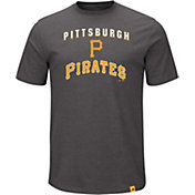 Majestic Men's Pittsburgh Pirates Stoked Grey T-Shirt
