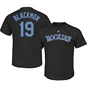 Majestic Men's Colorado Rockies Charlie Blackmon #19 Black T-Shirt