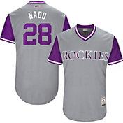 """Majestic Men's Authentic Colorado Rockies Nolan Arenado """"Nado"""" MLB Players Weekend Jersey"""