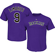 Majestic Men's Colorado Rockies D.J. LeMahieu #9 Purple T-Shirt
