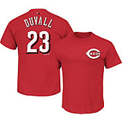 Majestic Men's Cincinnati Reds Adam Duvall #23 Red T-Shirt