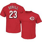 Majestic Men's Cincinnati Reds Adam Duvall #23 Red T-Shirt