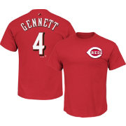 Majestic Men's Cincinnati Reds Scooter Gennett #4 Red T-Shirt