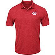 Majestic Men's Cincinnati Reds Cool Base Red Polo