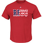 Majestic Men's Cincinnati Reds Red Americana T-Shirt