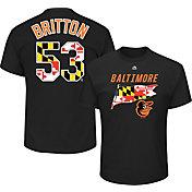 Majestic Men's Baltimore Orioles Zach Britton #53 Black T-Shirt