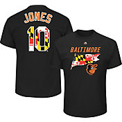 Majestic Men's Baltimore Orioles Adam Jones #10 Black T-Shirt