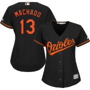 Majestic Women's Replica Baltimore Orioles Manny Machado #13 Cool Base Alternate Black Jersey