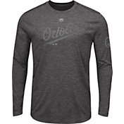 Majestic Men's Baltimore Orioles Grey Long Sleeve Shirt