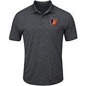 Majestic Men's Baltimore Orioles Cool Base Grey Polo