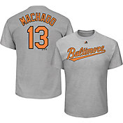 Majestic Men's Baltimore Orioles Manny Machado #13 Grey T-Shirt