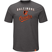 Majestic Men's Baltimore Orioles Stoked Grey T-Shirt