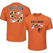 Majestic Men's Baltimore Orioles Zach Britton #53 Orange T-Shirt