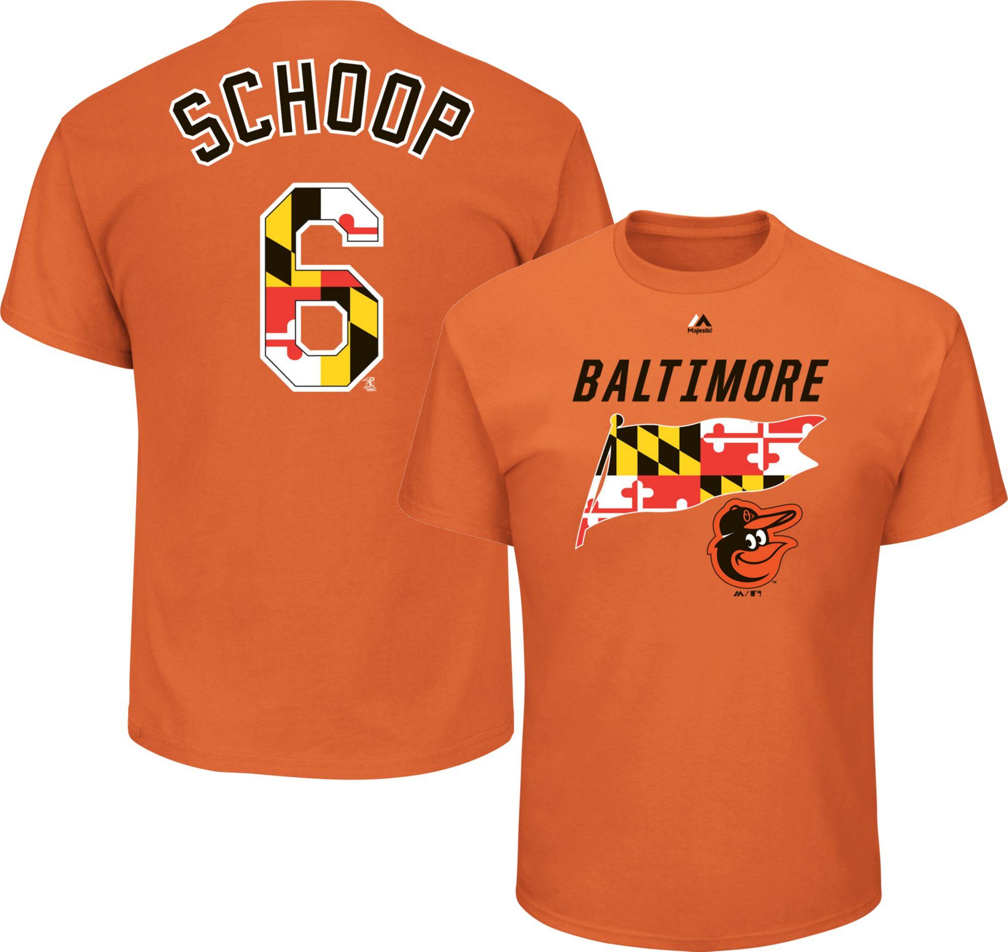 eb8227d19 ... Base Jersey - Grey Majestic Mens Baltimore Orioles Jonathan Schoop 6  Orange T-S ...
