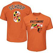 Majestic Men's Baltimore Orioles Jonathan Schoop #6 Orange T-Shirt