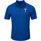 Majestic Men's Texas Rangers Cool Base Royal Polo