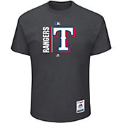 Majestic Men's Texas Rangers Authentic Collection Grey T-Shirt