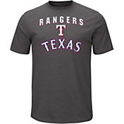 Majestic Men's Texas Rangers Stoked Grey T-Shirt