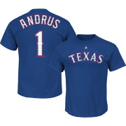 Majestic Men's Texas Rangers Elvis Andrus #1 Royal T-Shirt