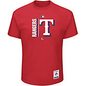 Majestic Men's Texas Rangers Authentic Collection Red T-Shirt