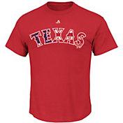 Majestic Men's Texas Rangers Red Americana T-Shirt