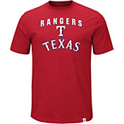 Majestic Men's Texas Rangers Stoked Red T-Shirt