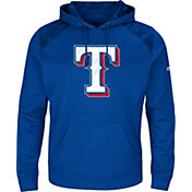 Majestic Men's Texas Rangers Therma Base Royal Pullover Hoodie