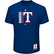 Majestic Men's Texas Rangers Authentic Collection Royal T-Shirt