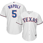 Majestic Men's Replica Texas Rangers Mike Napoli #5 Cool Base Home White Jersey