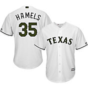 Majestic Men's Replica Texas Rangers Cole Hamels #35 2017 Memorial Day Cool Base Jersey