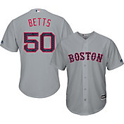 Majestic Men's Replica Boston Red Sox Mookie Betts #50 2017 4th Of July Cool Base Jersey