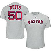 Majestic Men's Boston Red Sox Mookie Betts #50 Grey T-Shirt