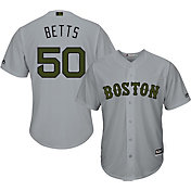 Majestic Men's Replica Boston Red Sox Mookie Betts #50 2017 Memorial Day Cool Base Jersey