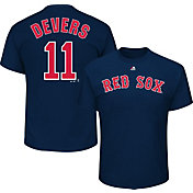 Majestic Men's Boston Red Sox Rafael Devers #11 Navy T-Shirt