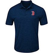 Majestic Men's Boston Red Sox Cool Base Navy Polo