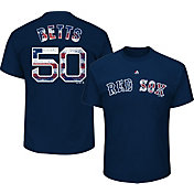 Majestic Men's Boston Red Sox Mookie Betts #50 Navy Americana T-Shirt