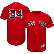 Majestic Men's Authentic Boston Red Sox David Ortiz #34 Flex Base Alternate Red On-Field Jersey