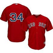 Majestic Men's Replica Boston Red Sox David Ortiz #34 Cool Base Alternate Red Jersey