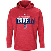 "Majestic Men's Boston Red Sox 2017 MLB Postseason ""Take 17"" Red On-Field Therma Base Hoodie"