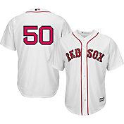 Majestic Men's Replica Boston Red Sox Mookie Betts #50 Cool Base Home White Jersey