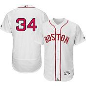 Majestic Men's Authentic Boston Red Sox David Ortiz #34 Flex Base Alternate Home White On-Field Jersey