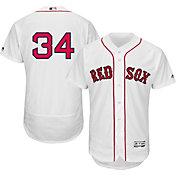 Majestic Men's Authentic Boston Red Sox David Ortiz #34 Flex Base Home White On-Field Jersey