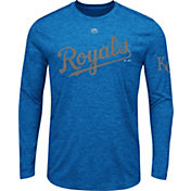Majestic Men's Kansas City Royals Royal Long Sleeve Shirt